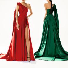 One shoulder sleeveless dress solid dress