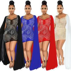 Fashion sexy V-neck hot Diamond Dress