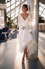 Fashion sexy long sleeve V-neck dress