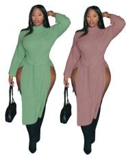 Sexy irregular split bandage dress
