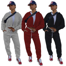 Multi Pocket sports two piece set with hat