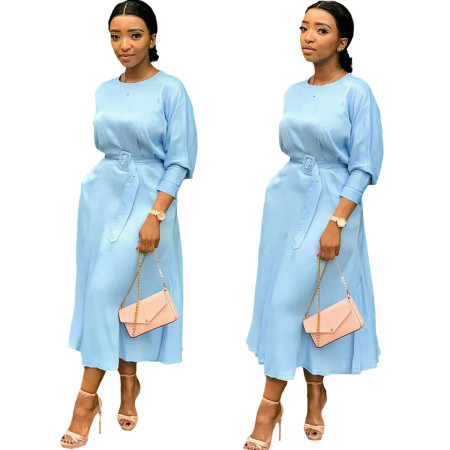 Fashion solid dress