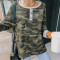 Casual fashion long sleeve T-shirt