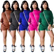 Fashion solid color tassel sports suit
