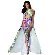 Sexy white print dress