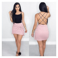 Sexy back hollowed out strap top