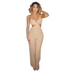 Sexy suspender back cut-out Jumpsuit