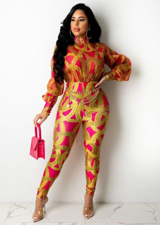 Sexy fashion printed Jumpsuit