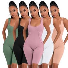 Fashion casual sleeveless Jumpsuit