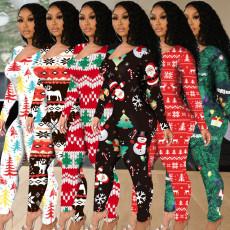 Tight Christmas printed Jumpsuit