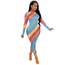 Fashion Sexy Screen Printed Dress