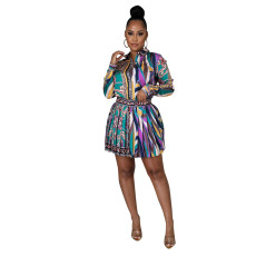 Fashion cardigan pleated skirt suit