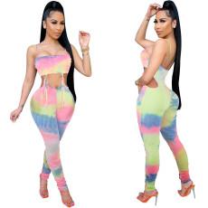 Shoulder strap open back fashion sexy Jumpsuit