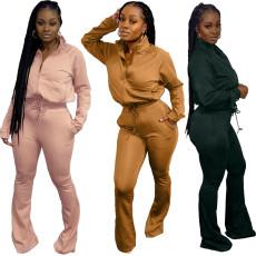 Fashion sports casual pants two piece set