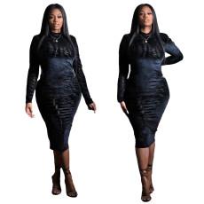Fashion casual zipper dress