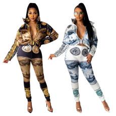 Dollar positioning printed Pants Set