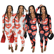 Sexy printed Jumpsuit