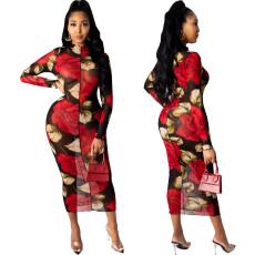 Sexy fashion mesh dress