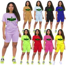Printed short sleeve Shorts Set