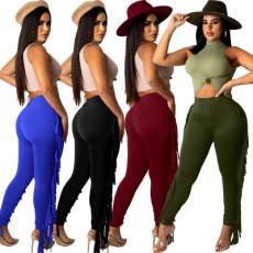 Fashion sexy tassel pants