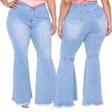 Fashion slim wide leg flare jeans
