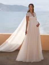 V-neck short sleeve maternity dress (excluding back mesh)