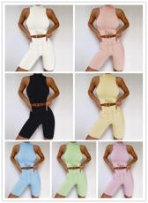 Leisure solid color Yoga suit