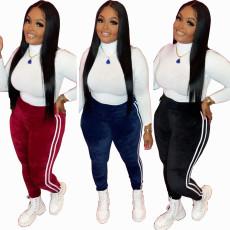 Fashion velvet trousers