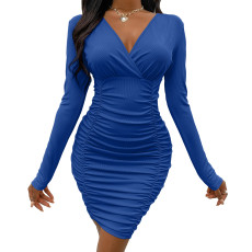 Sexy long sleeve tight dress