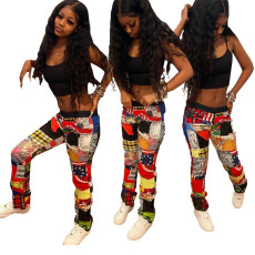 Fashion positioning printed casual pants