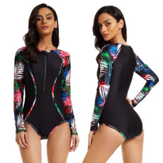 Sexy long sleeved surf suit one-piece swimsuit