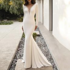 Sexy V-neck slim dress