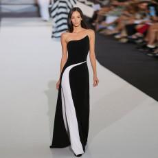 Sexy Strapless sleeveless dress slim dress