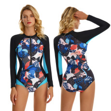 Sexy long sleeve one-piece swimsuit