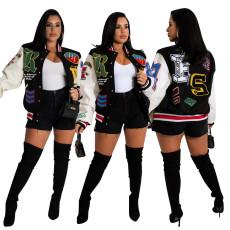 Fashion printed double jacket
