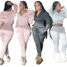 Fashion hooded sportswear