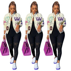 Fashion printed double thread jacket