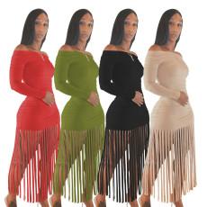 Versatile tassel dress