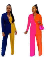 Fashion professional suit loose two-piece set