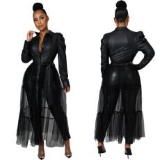 Sexy mesh stitching top