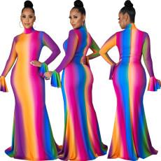 Casual fashion digital print dress