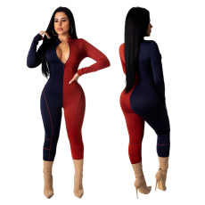 Sexy contrast stitched Jumpsuit