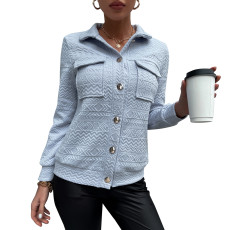 Fashion shirt collar short jacket jacket
