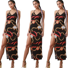 Classic Chain Printed Sexy Dresses