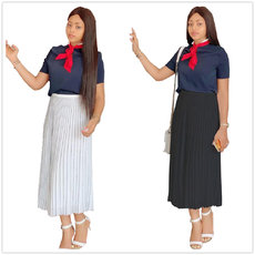 Fashion Pure Colour Leisure Pleated Skirt Half-length Skirt