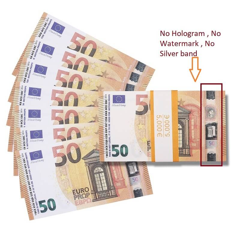 Faux Billet 50 Euro For Sale|Fake Euros For Film ,Kid Play Euro Ticket