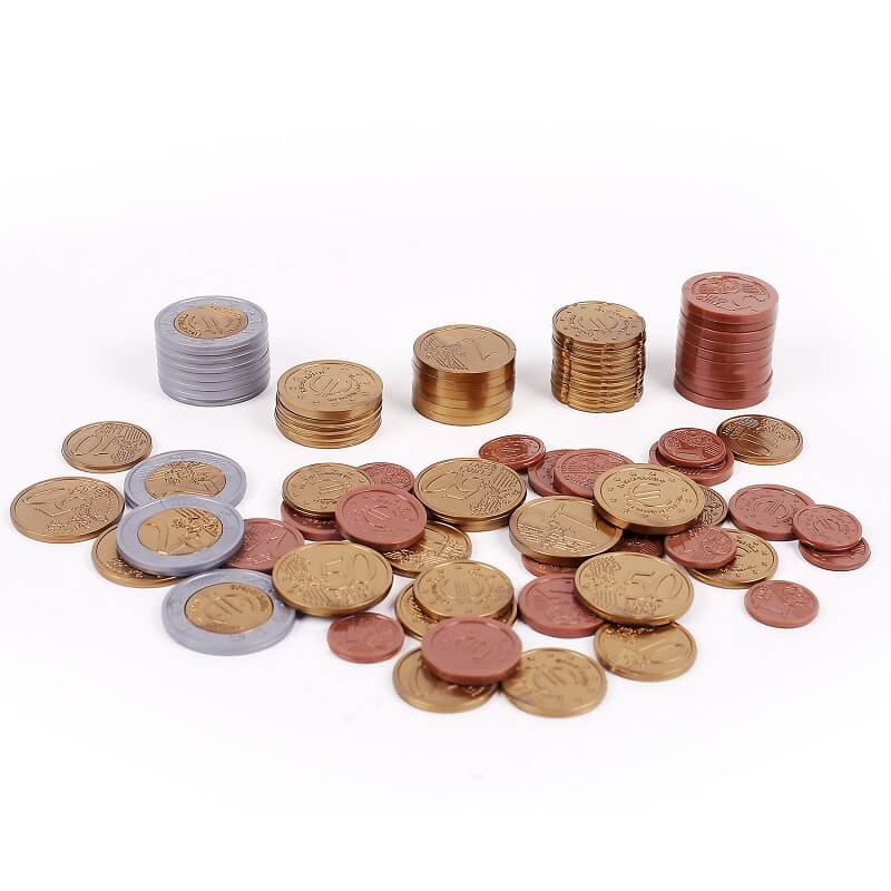 Plastic Euro Coins | Party Props | Party Supplies For Learning ,Math