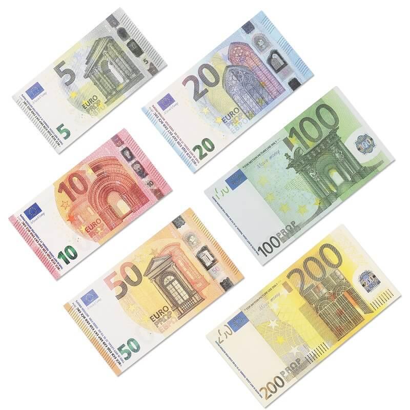 Prop Money Euro 5/10/20/50/100/200 |Prop Argent jouer l'argent de jeu réaliste papier