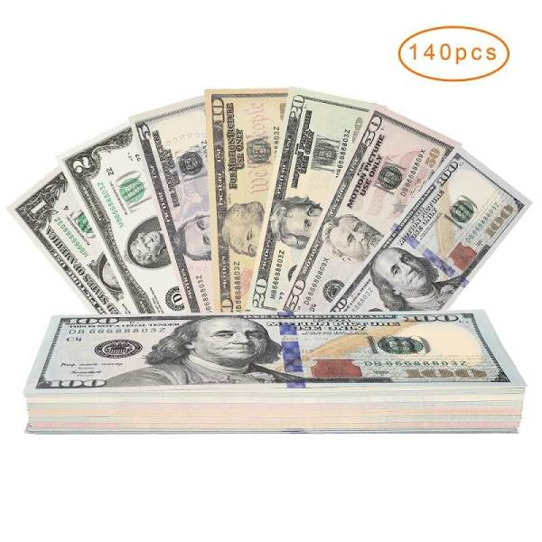 Educational Play Money Set Bills of 1/2/5/10/20/50/100 For Kids Play