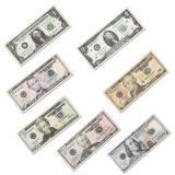 prop money, us dollar paper money, motion picture money